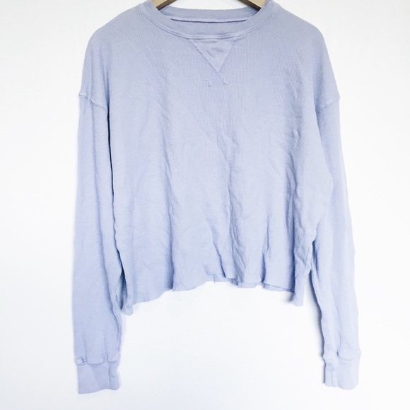 e5e7f17277 Brandy Melville Tops - Brandy Melville blue Laila thermal long sleeve top
